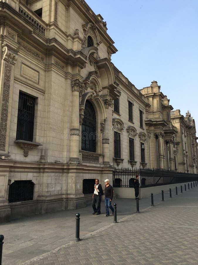 Plaza de Armas, Perú aus Lima lizenzfreies stockbild