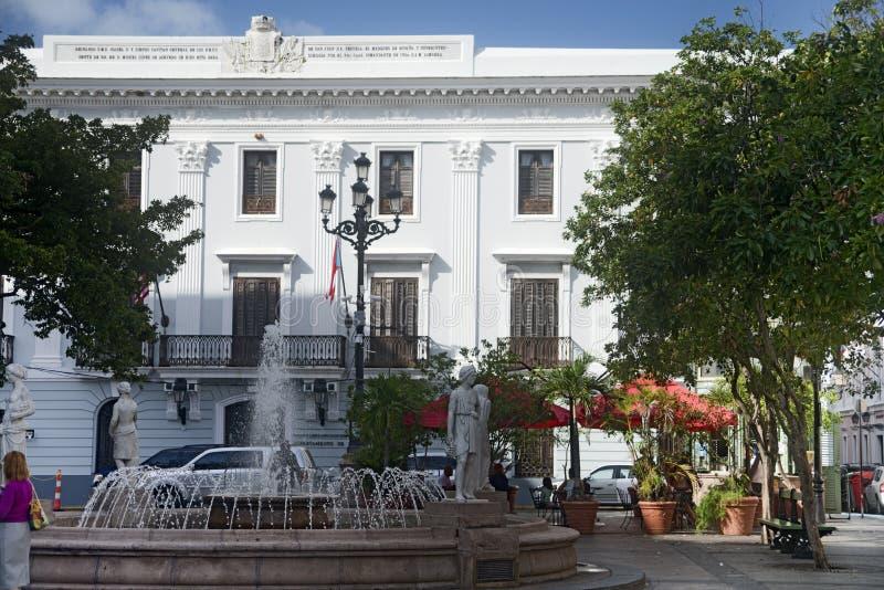 Plaza de Armas, San Juan viejo, Puerto Rico fotos de archivo libres de regalías
