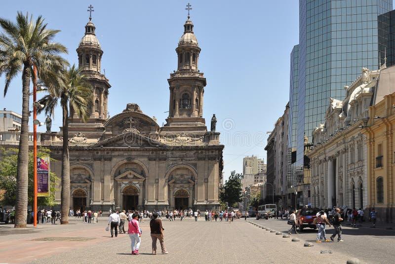 Plaza de Armas. Santiago de Chile. imagens de stock royalty free