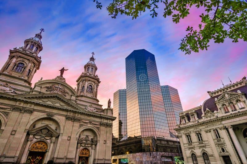 Plaza de Armas, Santiago de Chile, Chile fotografía de archivo