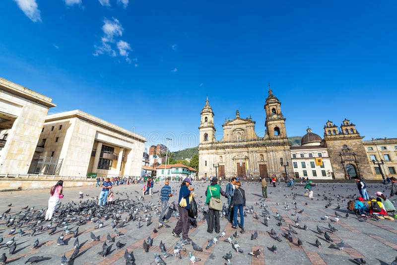 Plaza DE Bolivar, Bogota stock foto