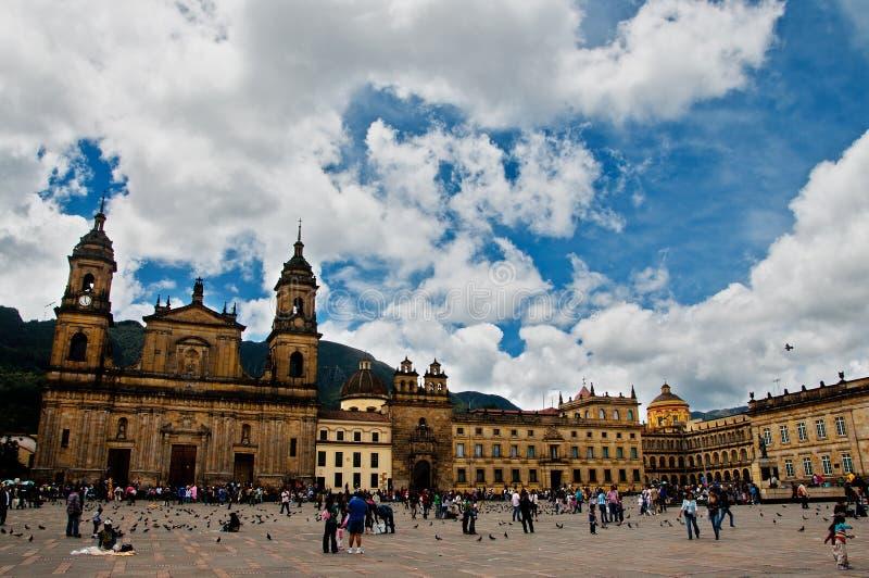 Plaza de Bolivar Vista imagem de stock