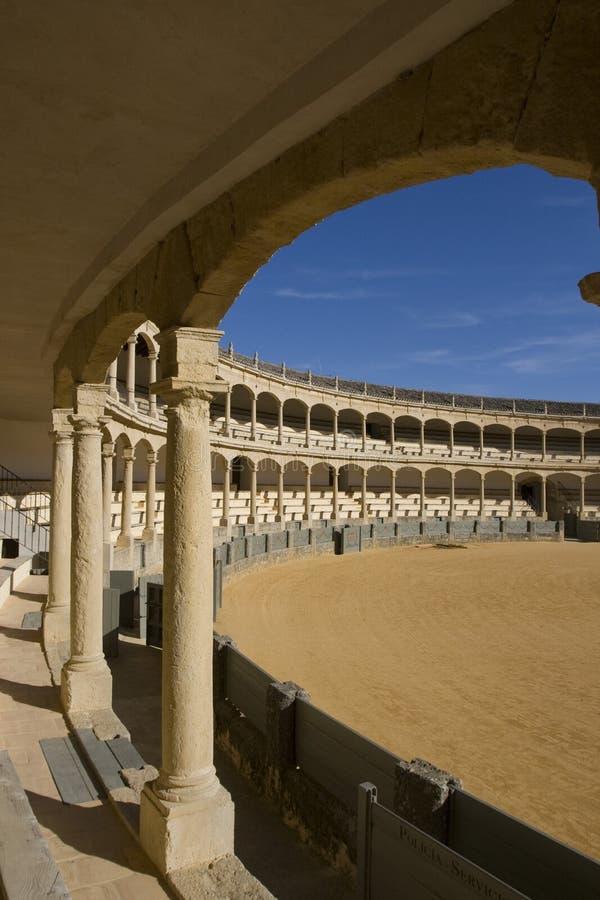Plaza De bullring Ronda toros fotografia stock