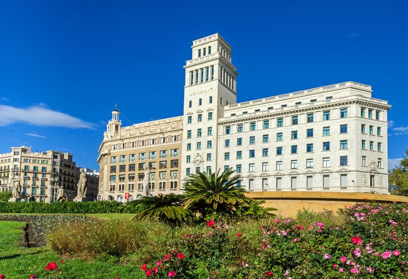 Garden of the iberostar bellis hotel stock photo image - El corte ingles plaza cataluna barcelona ...