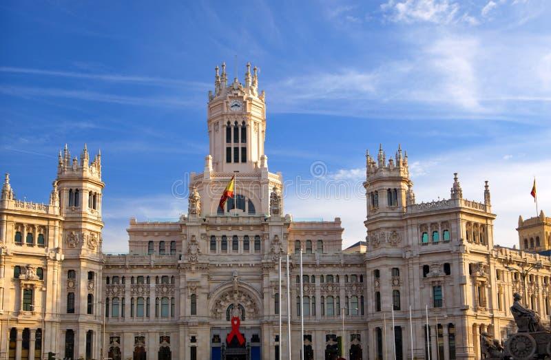 Plaza De Cibeles In Madrid Stock Image