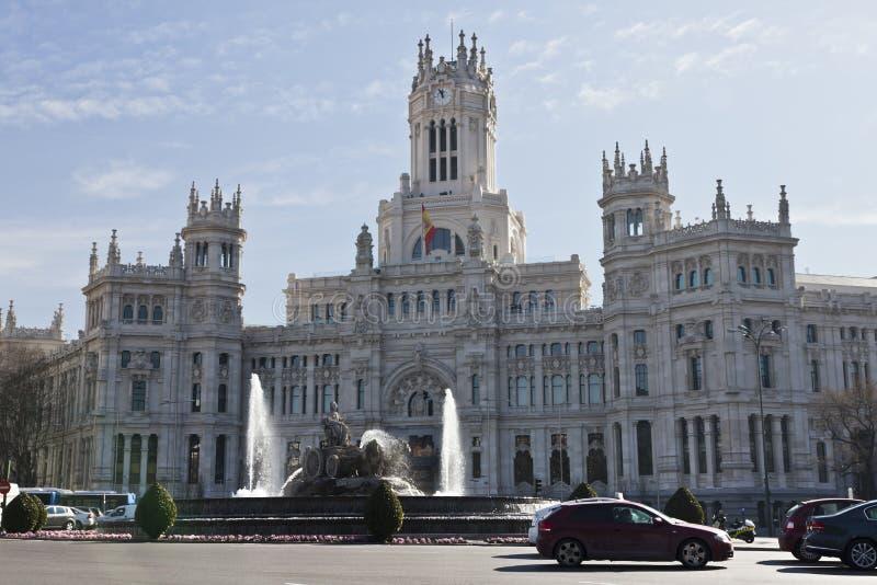 Download Plaza de Cibeles in Madrid editorial image. Image of fountain - 23386515