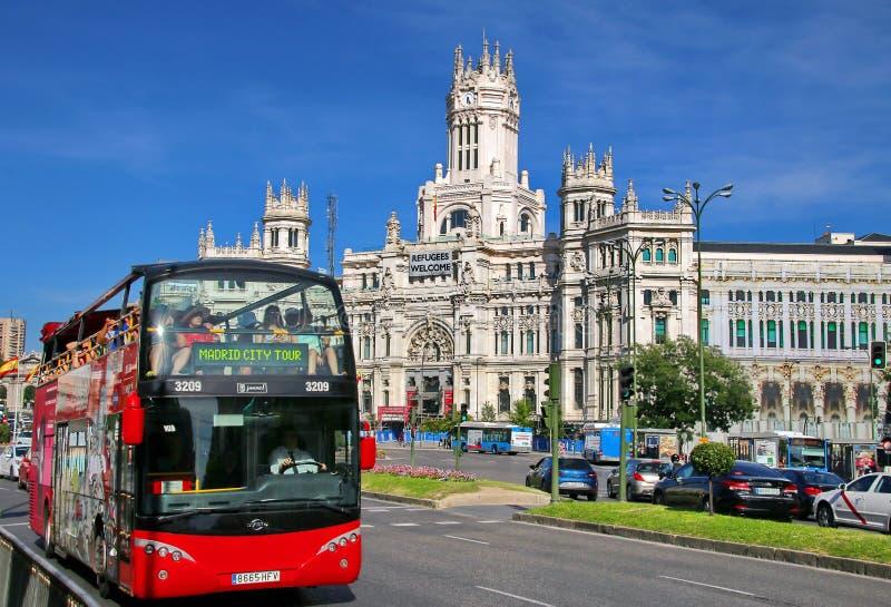 Plaza de Cibeles, Madrid, España imágenes de archivo libres de regalías