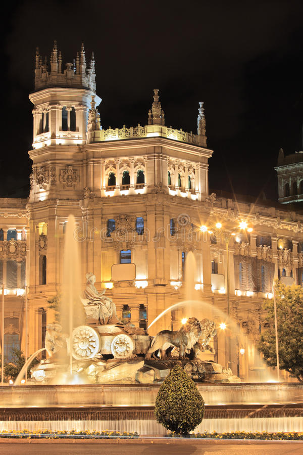 Plaza de Cibeles, Madrid, Spagna immagini stock