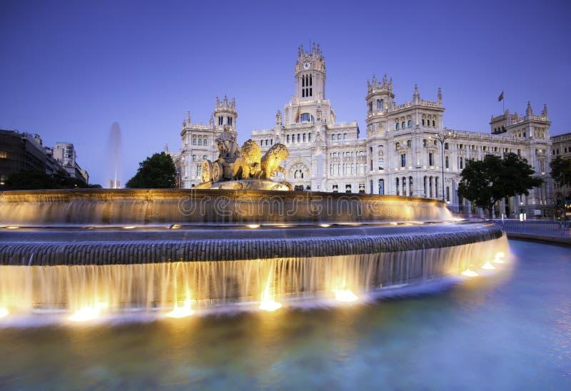 Plaza de Cibeles, Madrid, Spagna. fotografia stock libera da diritti