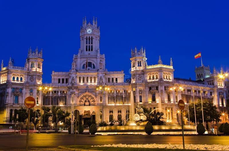 Download Plaza De Cibeles At Night, Madrid Stock Photo - Image: 8471912