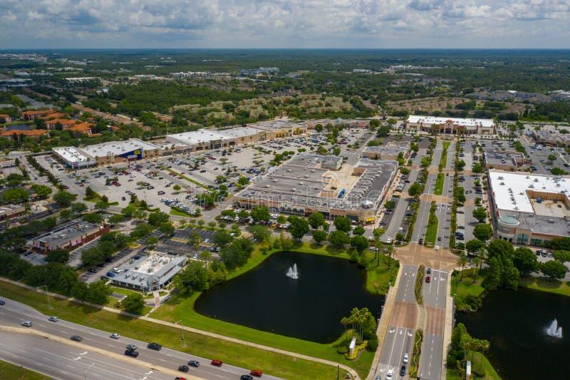 Plaza de compras aérea del centro de ciudad de los lagos waterford de la foto fotos de archivo libres de regalías