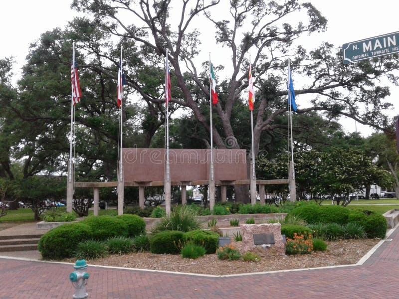 Plaza de Deleon, Victoria, Tejas imagen de archivo