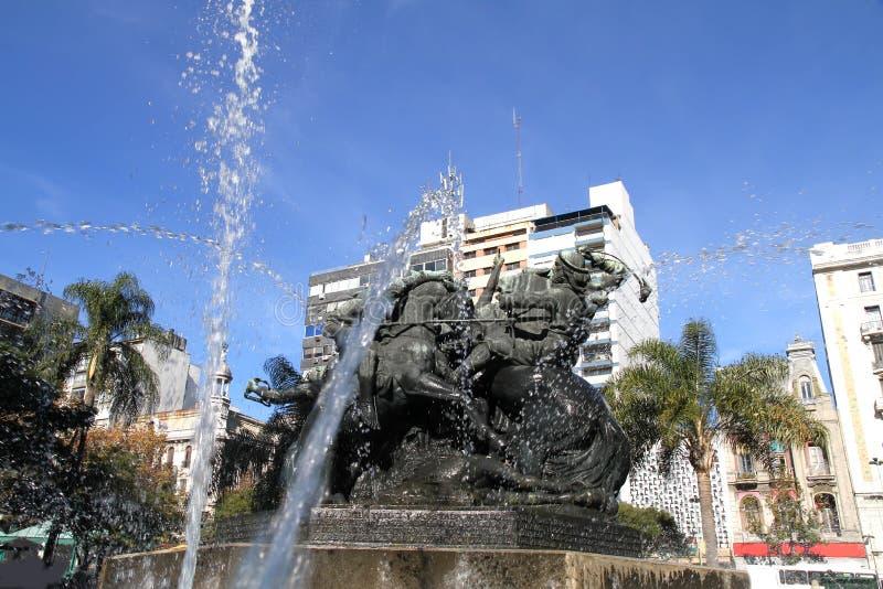 Plaza de Entrevero en Montevideo imágenes de archivo libres de regalías