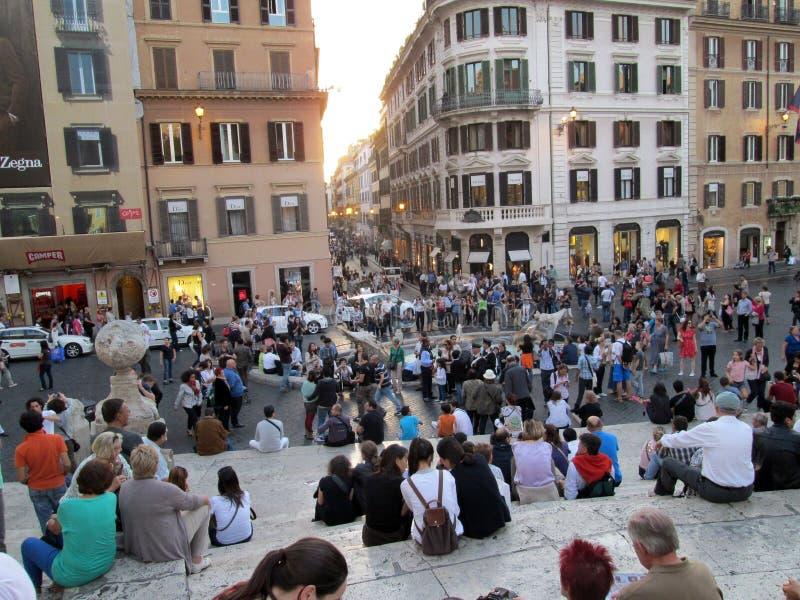 A plaza de España é um dos quadrados os mais conhecidos em Roma Itália Europa fotos de stock royalty free
