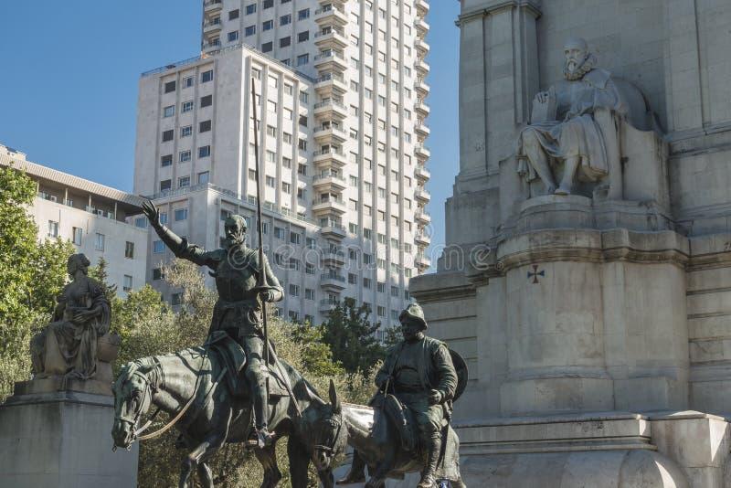 Plaza de España, Madrid imagens de stock