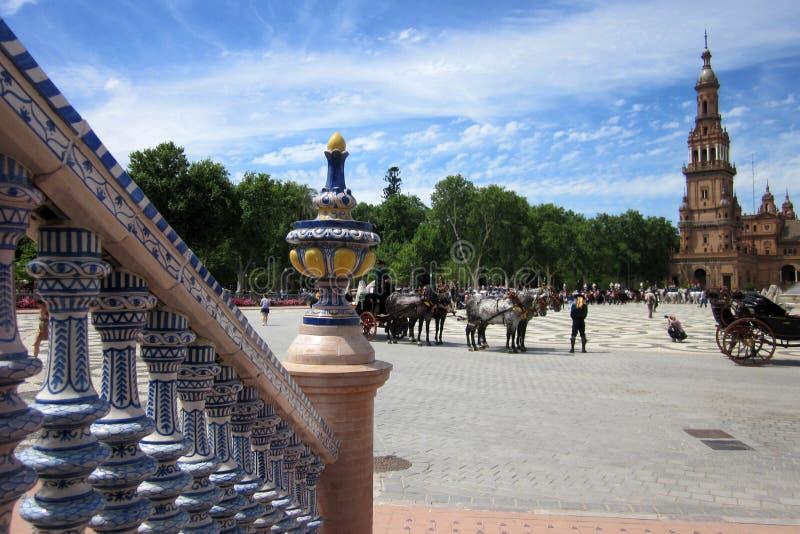 Plaza de España - Sevilha imagens de stock