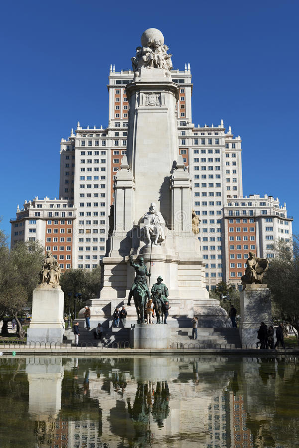 Plaza de España στη Μαδρίτη στοκ φωτογραφία με δικαίωμα ελεύθερης χρήσης