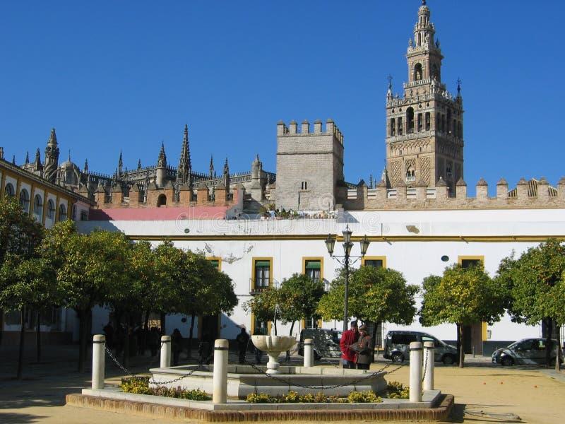 Plaza de España sevilla andalusia royaltyfria foton