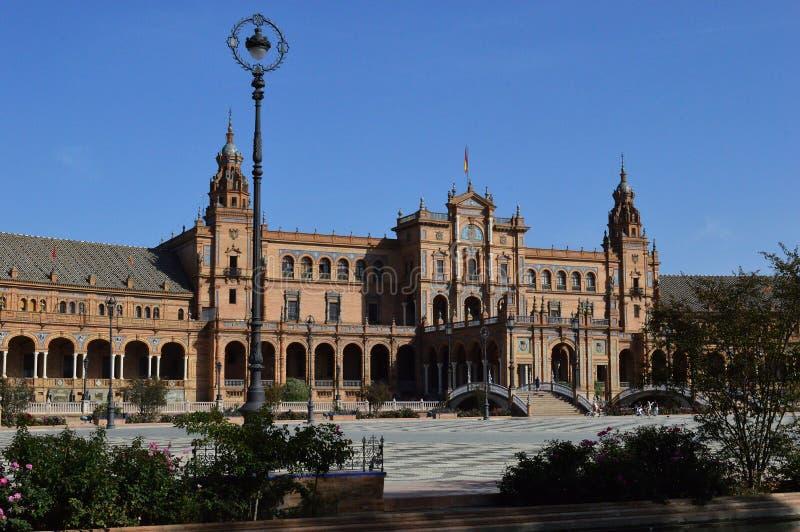 Seville - The Plaza de España. The Plaza de España `Spain Square`, in English is a plaza in the Parque de María Luisa Maria Luisa Park, in Seville royalty free stock photography