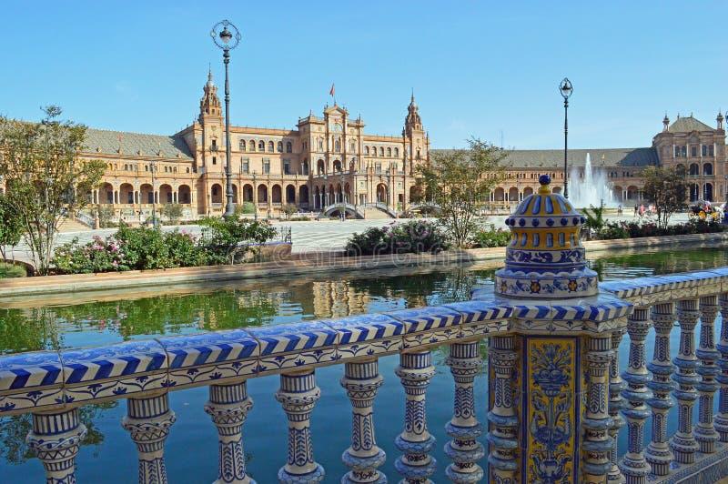 Seville - The Plaza de España. The Plaza de España `Spain Square`, in English is a plaza in the Parque de María Luisa Maria Luisa Park, in Seville royalty free stock images