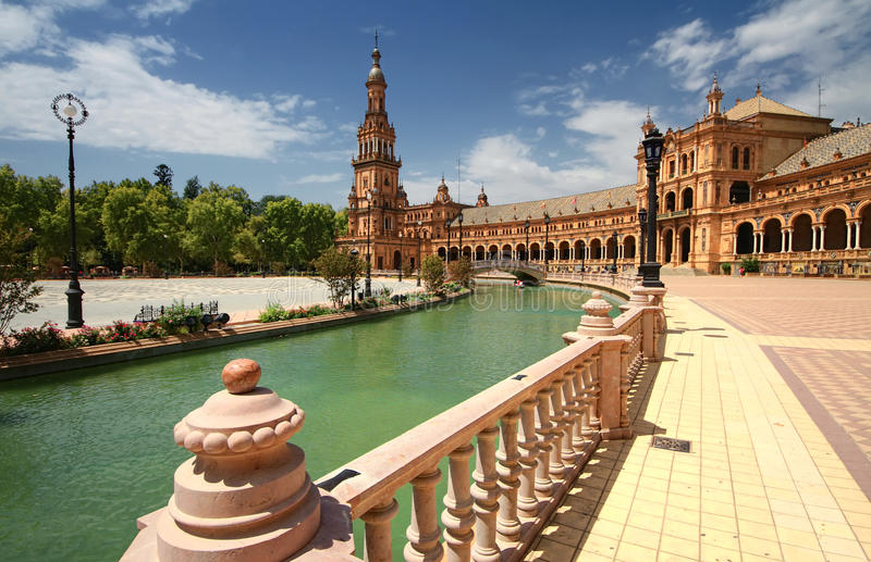 Download Plaza de Espana stock photo. Image of pavement, historical - 22567678