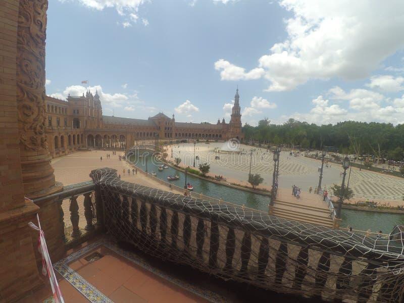 Plaza de Espana στοκ φωτογραφία με δικαίωμα ελεύθερης χρήσης