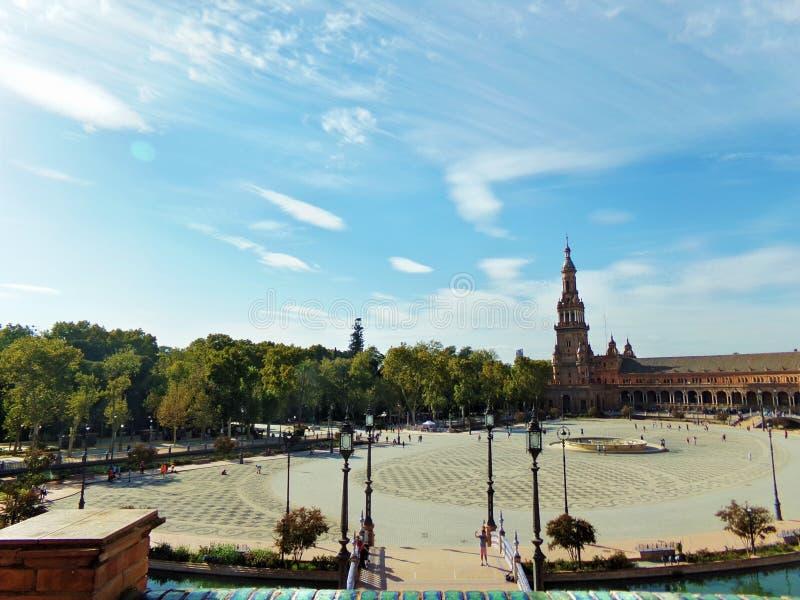 Plaza de Espana arkivfoton
