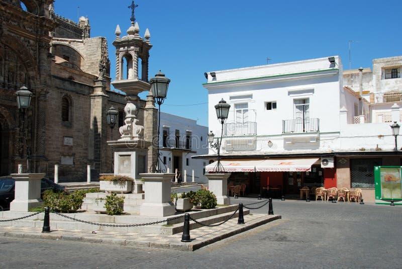 Plaza de Espana, EL Puerto de Santa Maria foto de stock royalty free