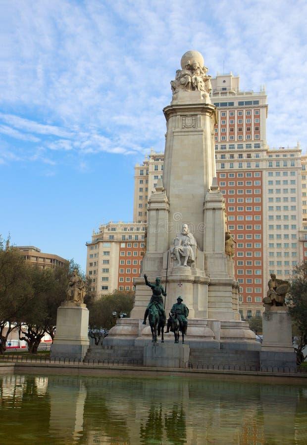 Plaza de Espana em Madrid, Spain fotos de stock royalty free
