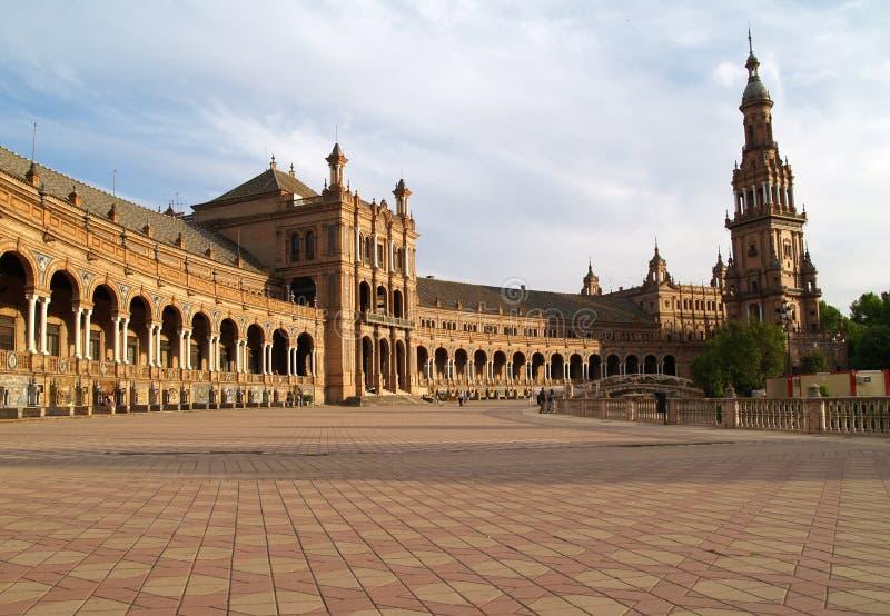 Plaza de Espana em Sevilha imagem de stock