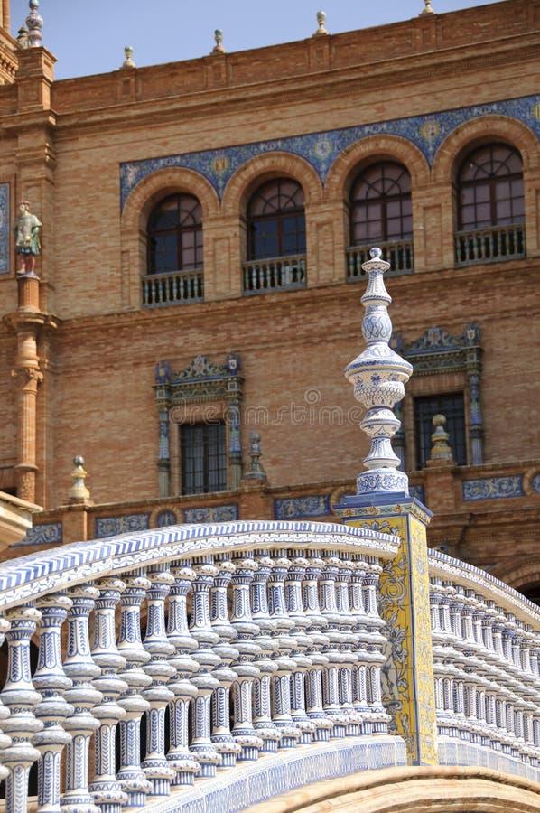 Plaza de Espana em Sevilha, Spain fotografia de stock royalty free