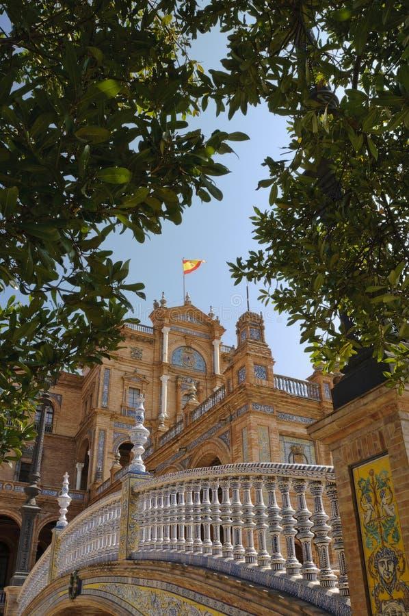 Plaza de Espana em Sevilha, Spain fotos de stock royalty free