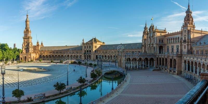 Plaza de Espana em Sevilha, Spain fotografia de stock