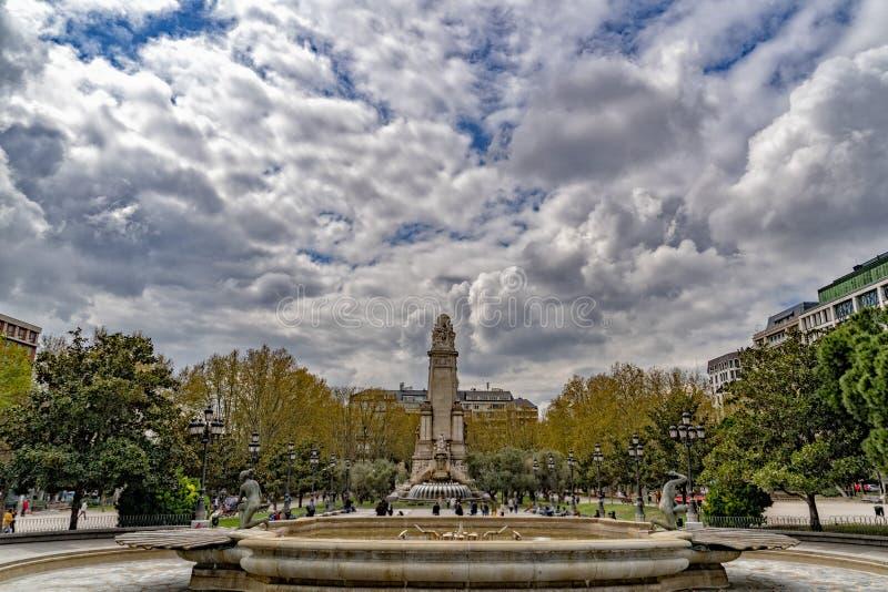 Plaza de Espana Madrid Spanien stockbild