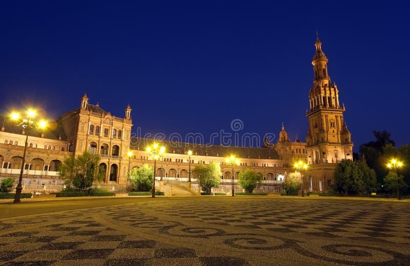 Plaza de Espana nachts stockfoto