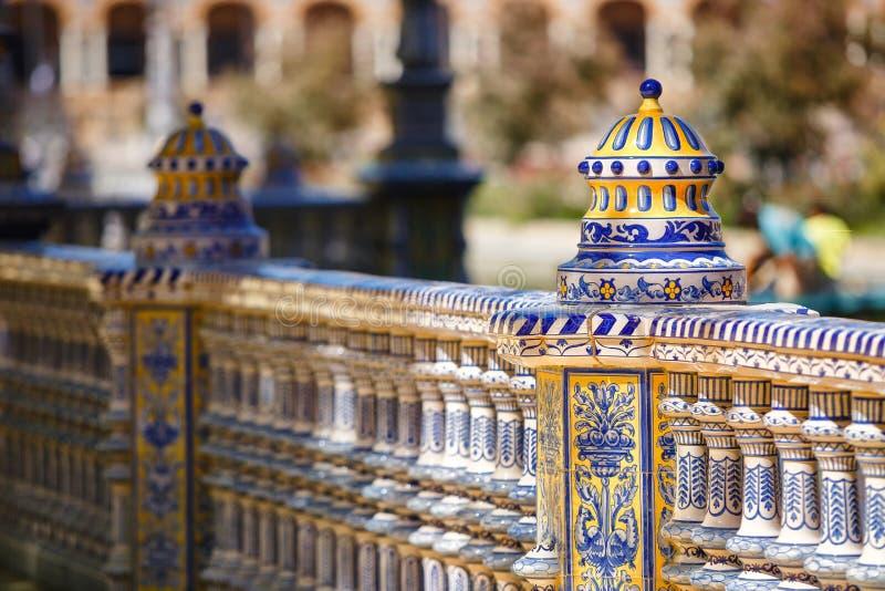 Plaza de Espana, place de l'Espagne, en Séville image libre de droits