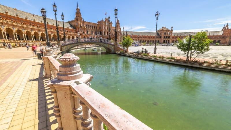 Plaza de Espana Séville photos libres de droits