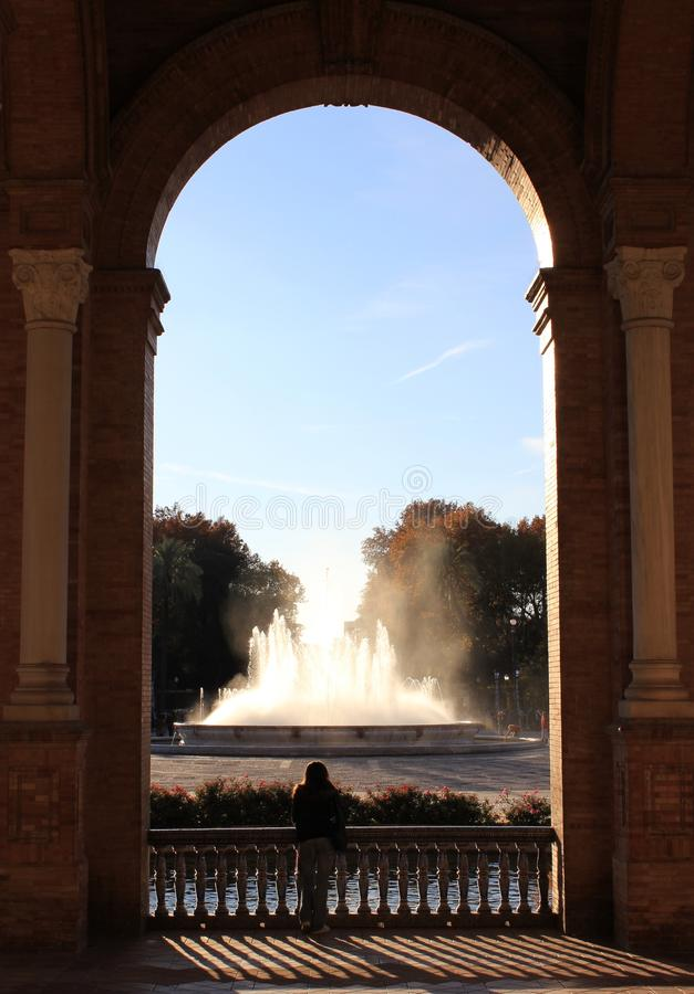 Plaza de Espana, Séville photos libres de droits