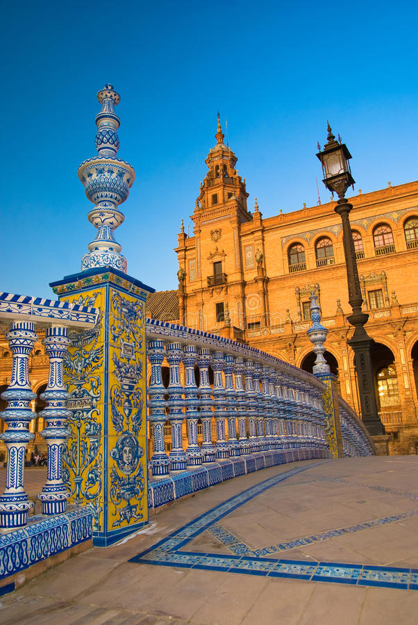 Plaza de Espana in Sevilla stock image
