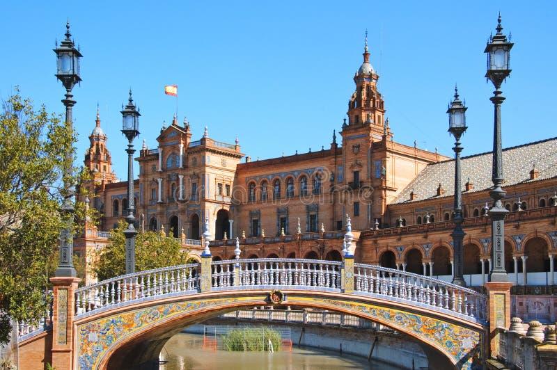 Plaza de espana, Sevilla fotografía de archivo