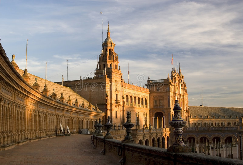 Plaza de Espana in Sevilla lizenzfreie stockbilder