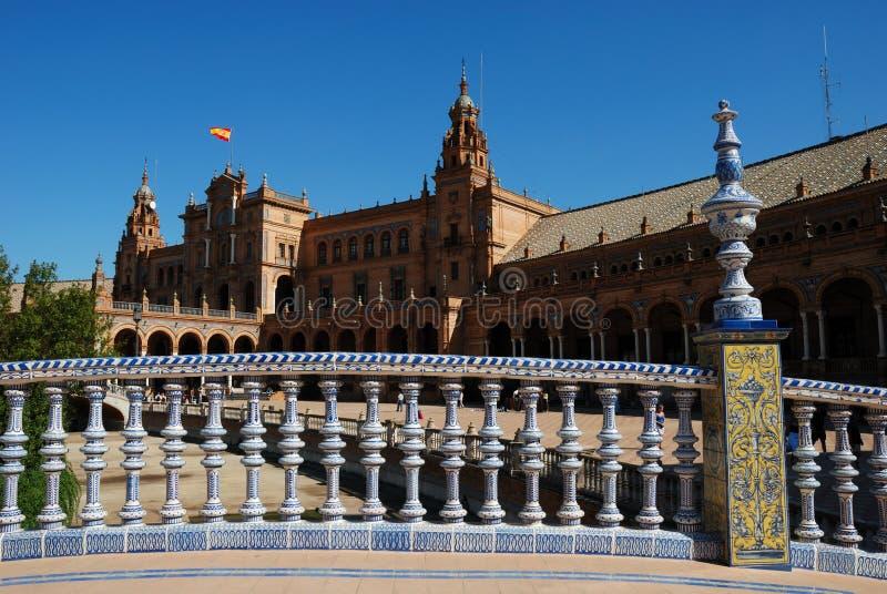 Plaza de Espana in Sevilla stockbild