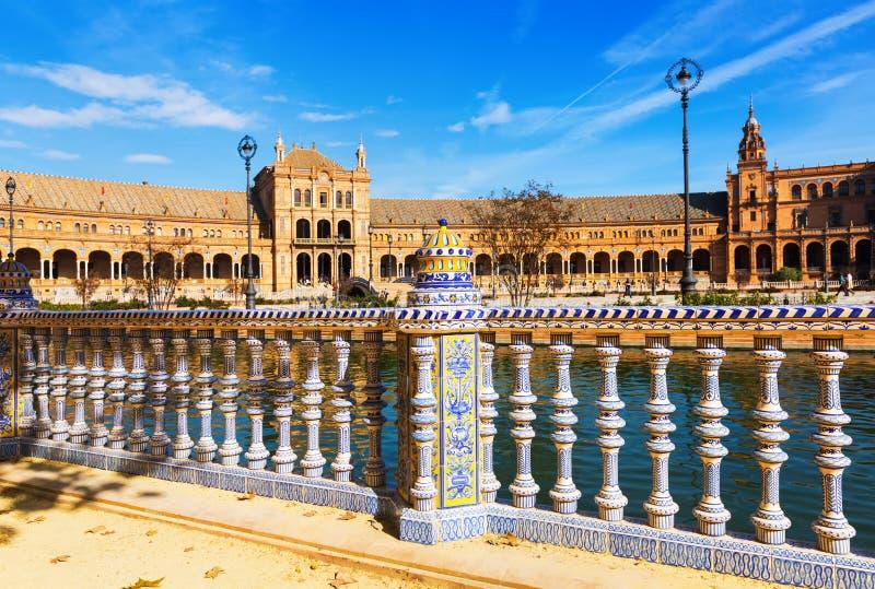 Plaza DE Espana Sevilla royalty-vrije stock afbeelding