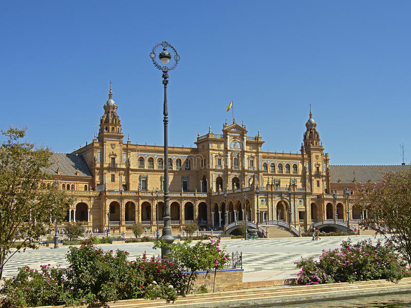 Plaza DE Espana, Sevilla royalty-vrije stock afbeelding