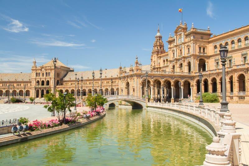 Plaza de espana sevilla. Andalusia stock images