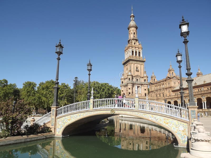 Plaza de Espana, Sevilla, España imágenes de archivo libres de regalías