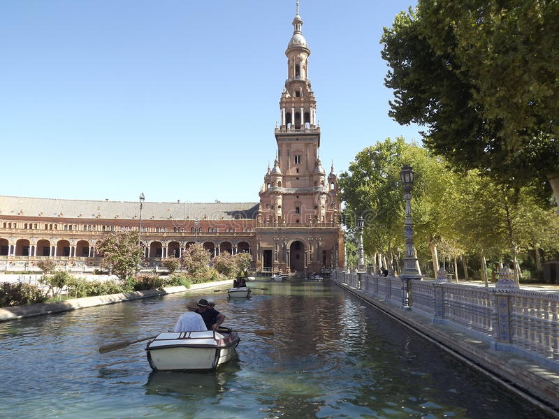 Plaza de Espana, Sevilla, Spanien stockfotografie