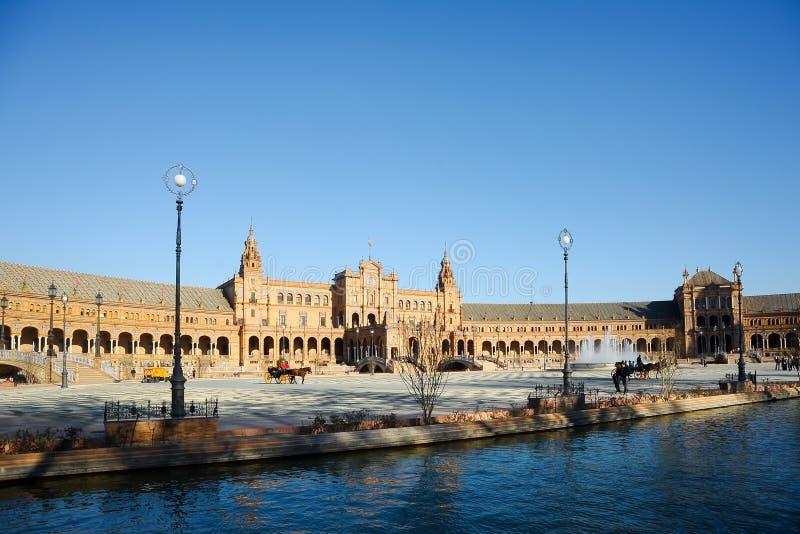 Plaza de Espana, Sevilla, Spanien stockbild