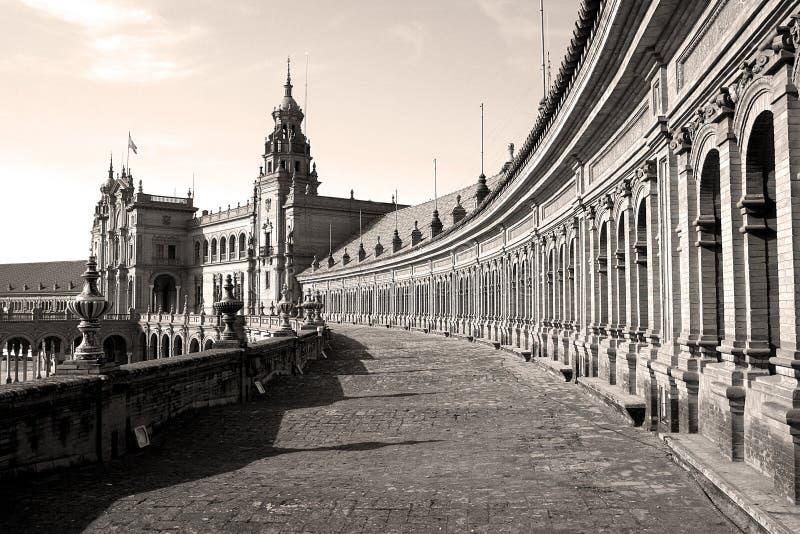 Plaza de Espana in Sevilla, Spanien stockbild