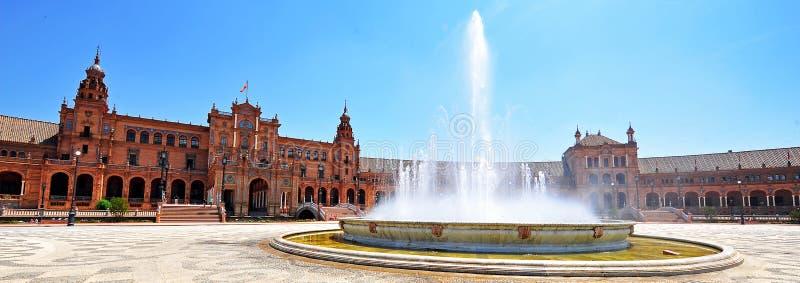 Plaza DE Espana, Sevilla, Spanje stock afbeelding